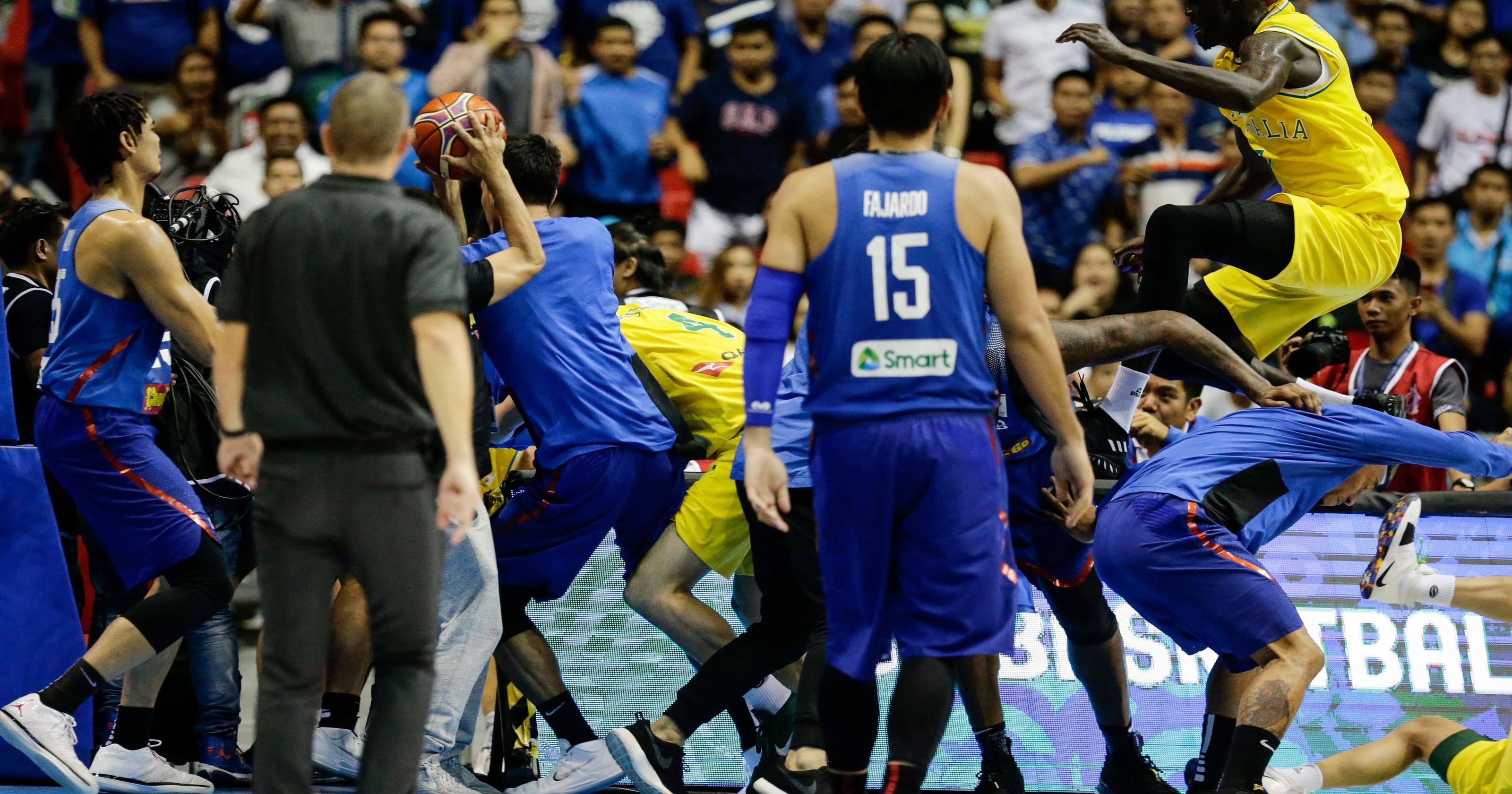 Australia-Philippines FIBA basketball game gets ugly with 13 ejections  after massive brawl 79153d04b
