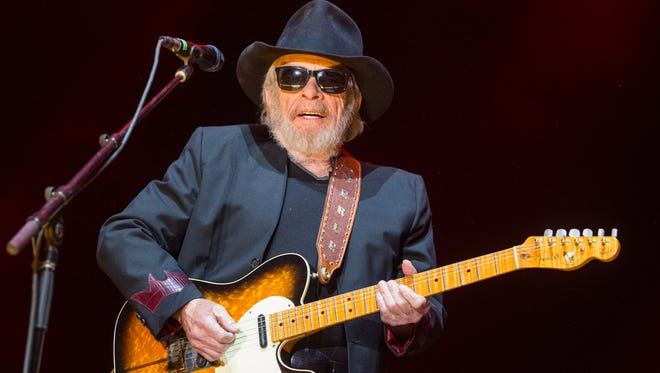 Merle Haggard performs during the 2015 Stagecoach Festival at the EmpireClub on Friday, April 24, 2015, in Indio, Calif.