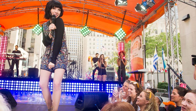 Carly Rae Jepsen performs on NBC's 'Today' show on Aug. 21 in New York. Her new album 'Emotion' is out now.