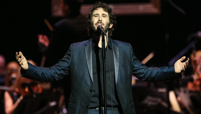 Josh Groban performs at the Dolby Theatre on Thursday, Oct. 29 in Los Angeles.