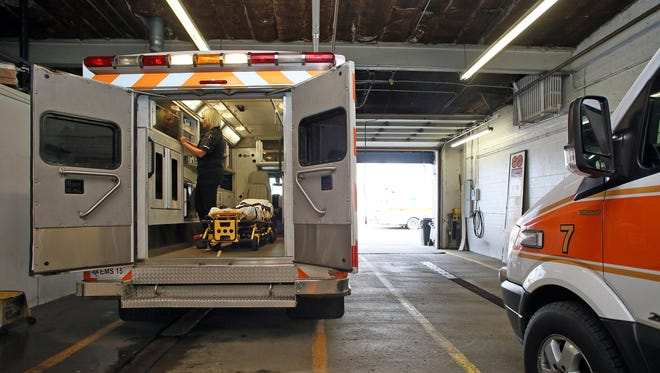 Coshocton County Emergency Management Services is pursuing some improvements to its building to allow for the parking of more ambulances under roof.