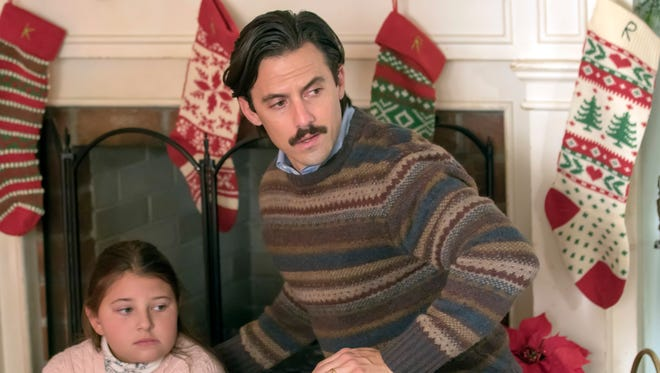 Mackenzie Hancsicsak as 8 year old Kate and Milo Ventimiglia as Jack in NBC's 'This is Us.'