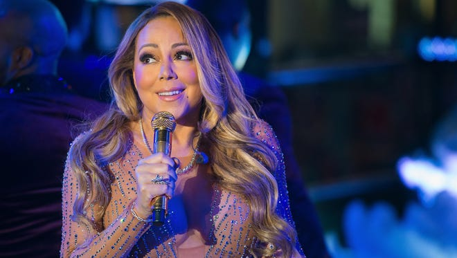 Mariah Carey performs during Dick Clark's New Year's Rockin' Eve in Times Square Saturday.
