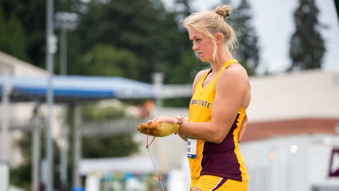 ASU junior Maggie Ewen is favored to win hammer throw at the NCAA Outdoor Track Championships and will compete in three events.