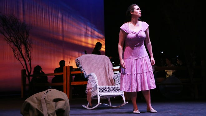 """Chelsea Basler performs the title role in Pasadena Opera's 2016 production of """"Susannah."""" Basler will reprise the role for Nashville Opera's upcoming production."""