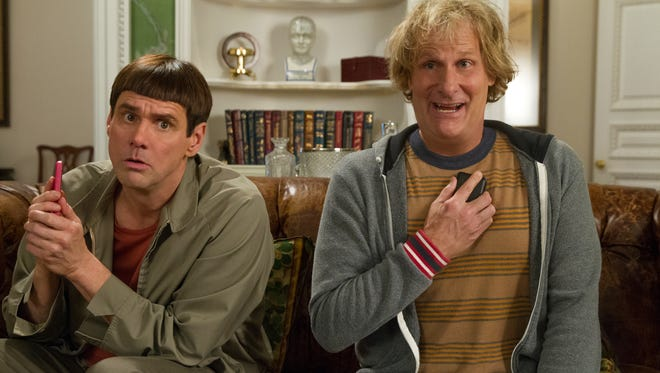 'Dumb and Dumber To,' with Jim Carrey, left, and Jeff Daniels, was No. 1 at the box office this weekend.