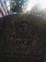 Grave of Harry Page