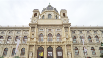 Vienna's Fine Arts Museum and Natural History Museum are twins: The look exactly alike, and face each other across a courtyard.