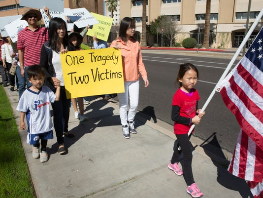 """Selective Justice"" protest by the Chinese American community"