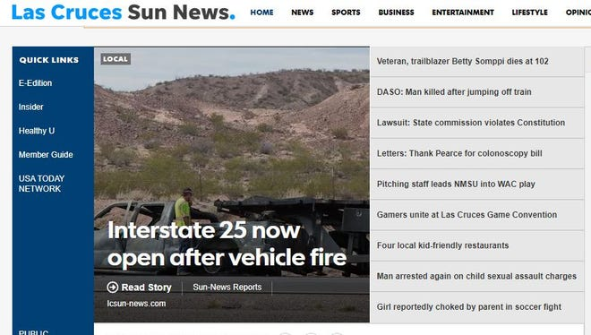 Las Cruces Sun-News home page.