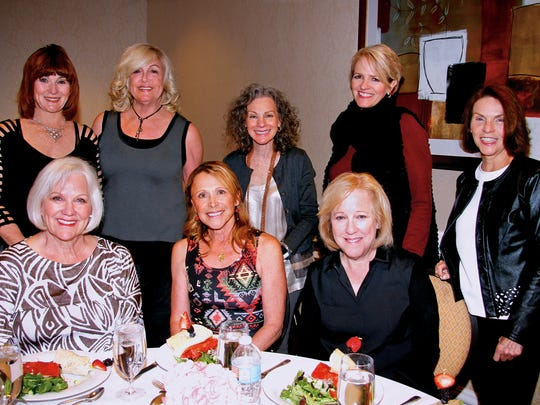 From left to right top row: Mona Zander, Debra Kay, Lori Friend, Toni Ackermann, Susan Bogorad Bottom row L to R: Joanna Silverman, Janet Anixter, and Joann Silva