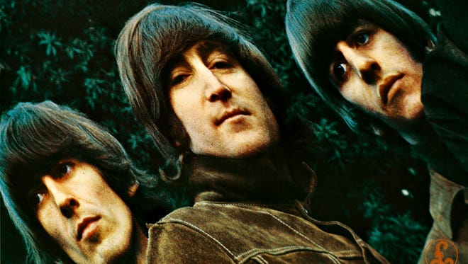 """The cover to The Beatles' 1965 album, """"Rubber Soul."""""""