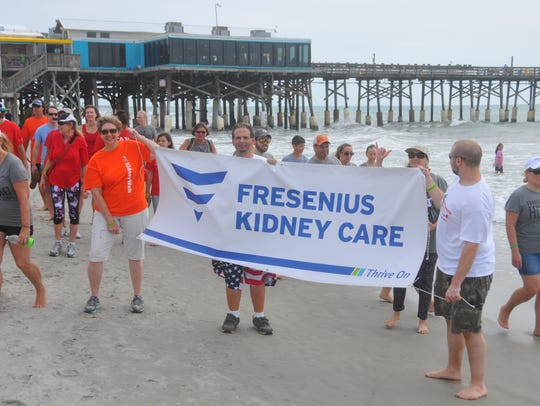 Hundreds showed up at the Cocoa Beach Pier Saturday