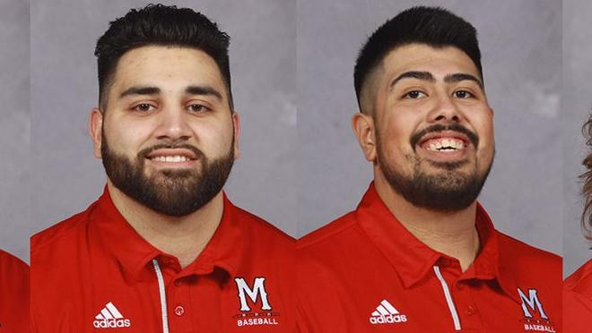 Monmouth College baseball players (left to right) Jake Brewer, Mike Dato, Arturo Monroy and Shamus Murphy take fifth year of eligibility offer.