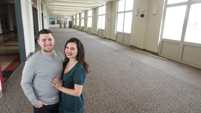 Agathi Georgiou and her fianceŽ Edward Zachary Graham are co-owners of Arbor at the Port, a new event space in the Port of Rochester.