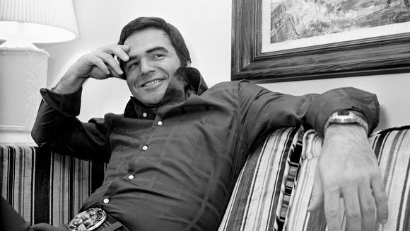 "Burt Reynolds promotes the film ""W.W. and the Dixie Dancekings"" on Feb. 3, 1975, in Nashville."