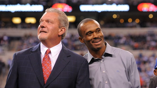 """""""I don't know if you understand the type of intensity that burned in that man,"""" Jim Irsay said of Marvin Harrison."""