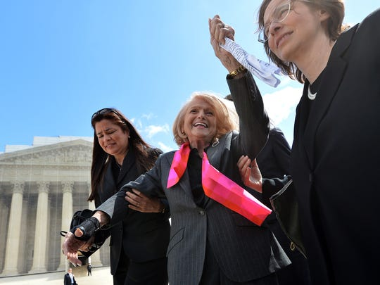 Edie Windsor, when her case against the federal Defense of Marriage Act was argued in 2013.