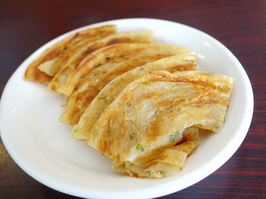 Scallion pancakes at Miu's Bistro