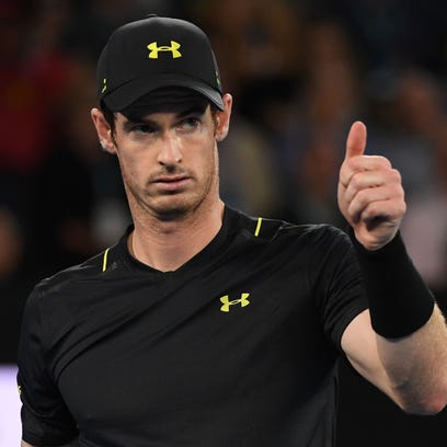 Andy Murray advances, hopes ankle won't be issue vs. Querrey