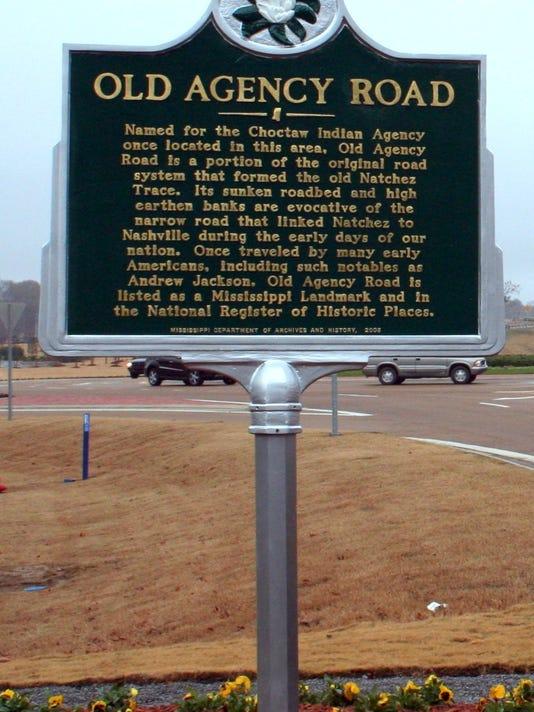Old Agency Road marker.jpg