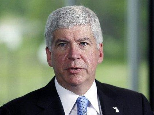 Gov. Rick Snyder was critical of the surprise front-runner in the Republican presidential sweepstakes.