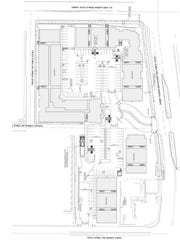 Plan A:  This is the site plan for the apartments if