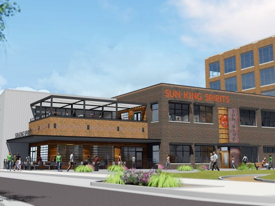 A rendering of the distillery Sun King plans to build