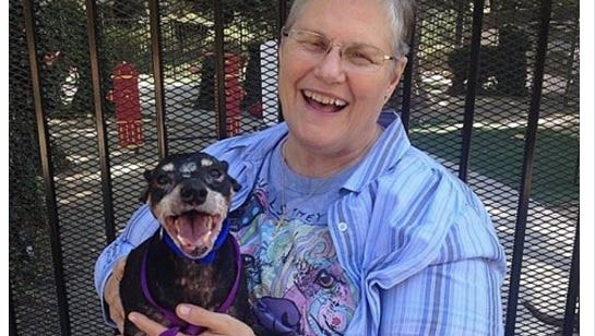 Melani Andrews adopted Jake, a mixed-breed pooch with terminal cancer.