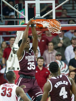 Mississippi State's Aric Holman is scoring more from the power forward position.