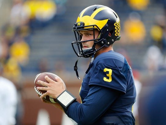 Michigan Wolverines quarterback Wilton Speight.