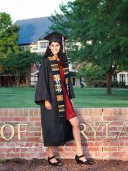 Vasavi Veerapaneni, 19, will graduate Friday, May 25,