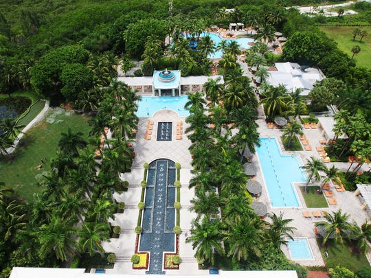 KINFAY MOROTI/THE NEWS-PRESS... A rooftop view from the Hyatt Regency Coconut Point Resort and Spa in Bonita Springs on Friday (8/14/15).