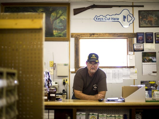 Kenny Bobst is photographed in his store, Beaver Valley Hardware, in Beaver, off of the Appalachian Highway in Beaver.