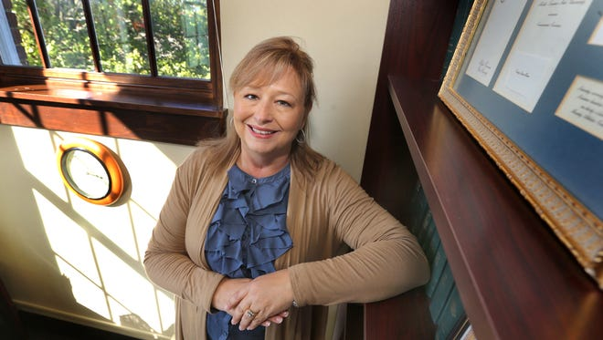 Sonya Stephenson, the Rutherford County Human Resources Director, was a mentor for three Holloway High School graduates this year, stands in her office on Wednesday, Oct. 14, 2015.