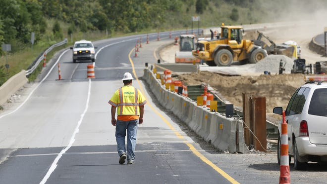 Interstate 65 was closed near Lafayette for weeks in August and September due to instability. INDOT crews are repairing the southbound lane south of Lafayette late Monday and early Tuesday.