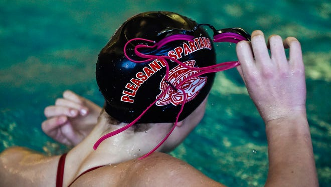 The area is sending several swimmers to the district meet at Ohio State on Saturday.