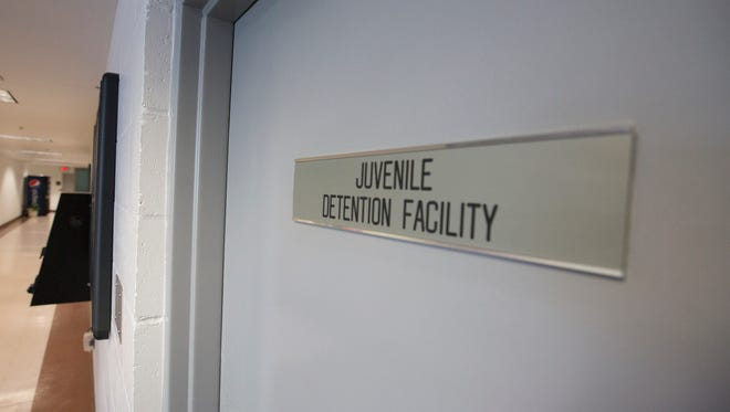The juvenile detention facility at the Portage County Sheriff's Department in Stevens Point, Friday, April 15, 2016.