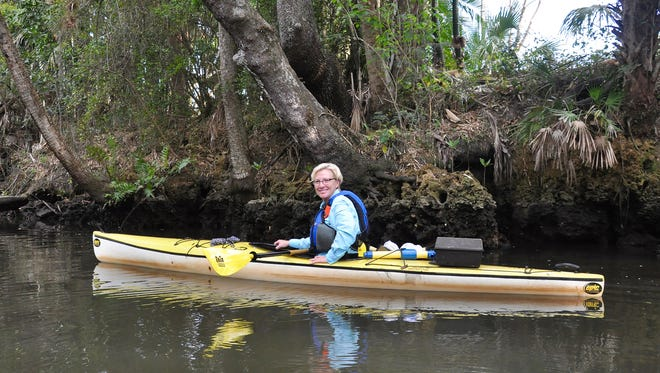 Peggy Phillips, a Florida master naturalist with College of Life Foundation, regularly collects debris and garbage from the Estero River during her many kayaking tours. In May, she pulled this mysterious black receptacle out of the water.