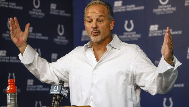 Indianapolis Colts coach Chuck Pagano didn't know whether he would keep his job when he spoke to media Monday afternoon at the Colts Complex.