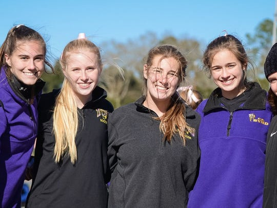 Byrd's Eva Paul, Kelsey Smith, Allie Cannon, Alex Stevens and Mia Zaffater.
