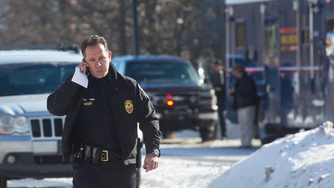 West Lafayette Police Chief Jason Dombkowski during the Jan. 21 shooting on the Purdue University campus in which 21-year-old engineer student Andrew Boldt was killed. This was one of the Dombkowski's worst day on the job in his 25 years as a police officer and 11 years as police chief.