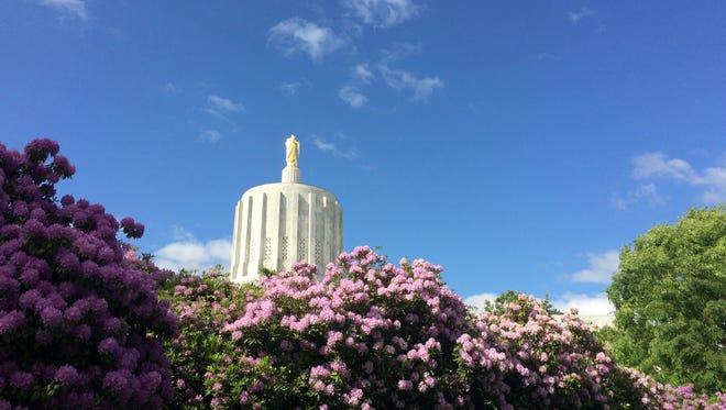 The Oregon Capitol in Salem.