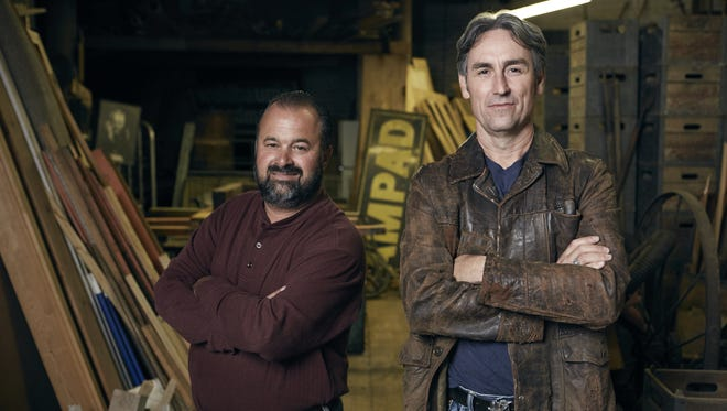 """Frank Fitz, left, and Mike Wolfe of """"American Pickers"""" will be in New York this summer looking for interesting characters and their collectibles."""