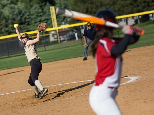 Pitcher Cassie Rickrode and No. 2-seeded Delone Catholic