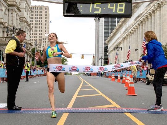 Redding's Sara Hall wins the Freihofer's Run for Women 5K on Saturday in Albany, New York.