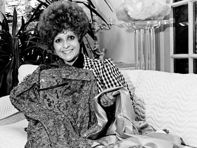 Brenda Lee will be selling this silk suit, shown here May 30, 1984, that Ronnie Milsap wore the night he was named CMA Entertainer of the Year in 1977 at the Celebrity Auction under a tent at Fair Park. The event, with the proceed benefit the YWCA, will kick-off Fan Fair.