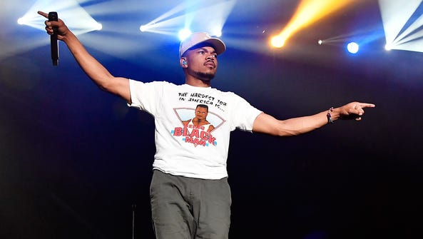 Chance the Rapper performs at the Hangout Music Festival