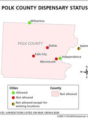 Here's how the cities in Polk County voted on whether to impose moratoriums on medical marijuana dispensaries.