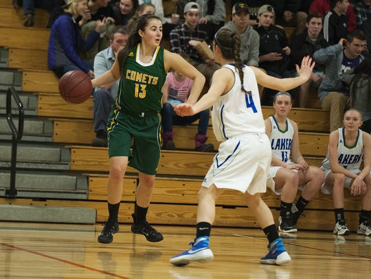 BFA's Andi Esenler (13) looks to pass the ball during